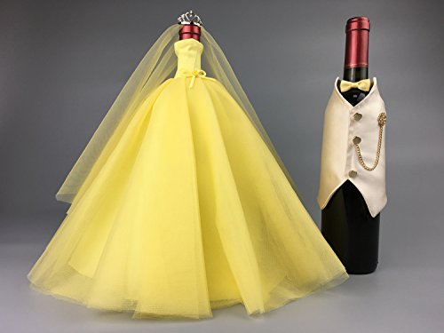 Bottle Ideas Bride And Groom Wine Bottle Covers Wine