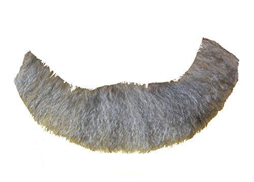 2024 (Light Gray) Human Hair Beard -