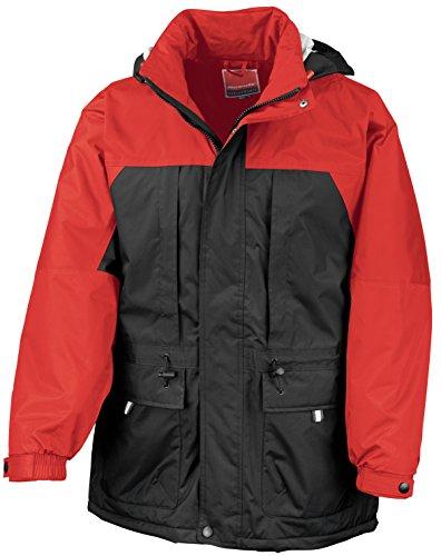 Invierno Múltiples Rojo De Negro Chaqueta Funciones fHpwnqT7p5