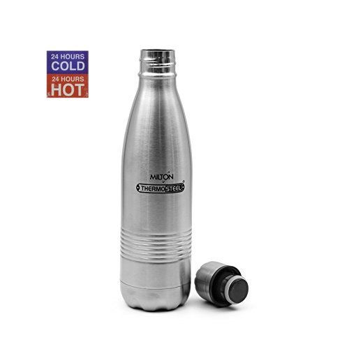 Milton Thermosteel Duo 500 DLX Bottle, 500ml, Steel