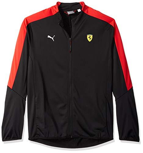 PUMA Men's Standard Scuderia Ferrari T7 Track Jacket, F Black, XL