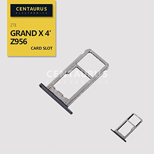 for ZTE Z956 Grand X 4 SIM Micro SD Card Slot Memory Tray Holder Part Replacement (Zte Grand X 4 Sd Card Slot)