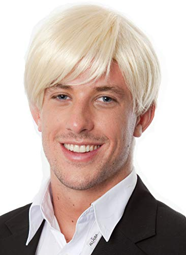 Mens Short Blonde Wig Fits Adults &