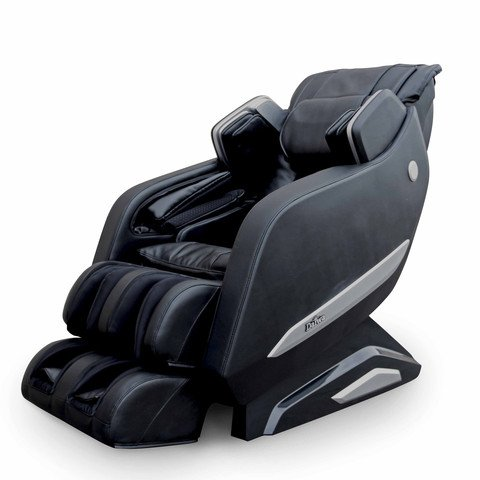 Daiwa Massage Chair Extended L-Shaped Track Massage Chairs Legacy Massager Lounger (Black)