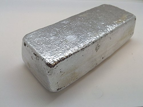 Aluminum Ingot. 1 Pound 3000 Series Aluminum - Iron Ingot Bar