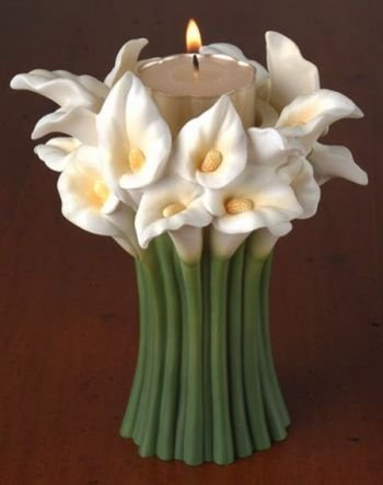 Calla Lily Bouquet Tea Light Candle Holder