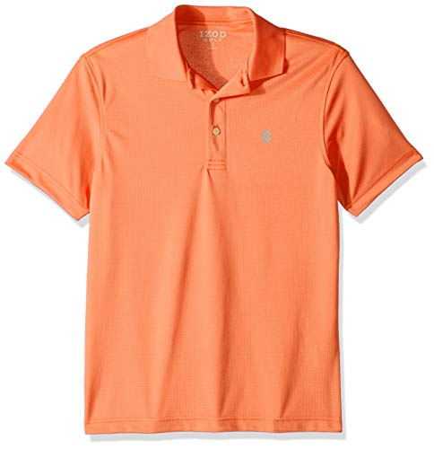 (IZOD Men's Performance Golf Grid Polo, Melon, Small)