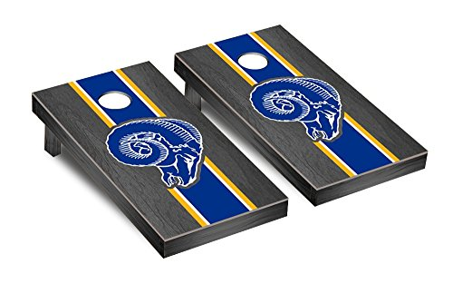 NFL Los Angeles Rams Throwback Onyx Stained Stripe Version Football Corn hole Game Set, One Size by Victory Tailgate