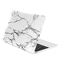 """CAJA SUPERIOR - Estuche rígido recubierto de mármol blanco compatible con Apple MacBook 12 """"con pantalla Retina modelo A1534 (Lanzamiento 2015)"""