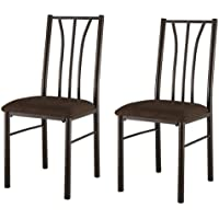 Kings Brand Set Of 2 Metal With Microfiber Seats Dining Room Kitchen Side Chairs