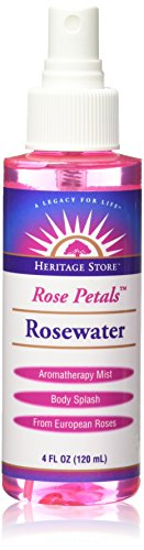 Heritage Products Rosewater, Rose Petals, 4 ounces (Pack of 6)