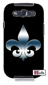 The Fleur Di Li Symbol Saints Unique Quality Soft Rubber TPU Case for Samsung Galaxy S4 I9500 - White Case