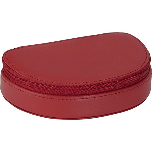(Royce Leather Mini Jewelry Case - Red )