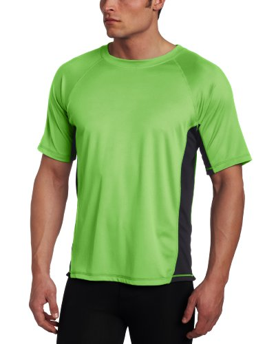 Simply Swim Mens Clothing - Kanu Surf Men's CB Rashguard UPF 50+ Swim Shirt (Regular & Extended Sizes), Neon Green, Large
