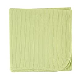 Touched by Nature Organic Cotton Receiving Blanket, Celery, 40x40\