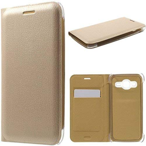 covernew leather Flip Cover for samsung galaxy j5 6 2016 edition  golden meephFlip Covergalaxyj5 16gold