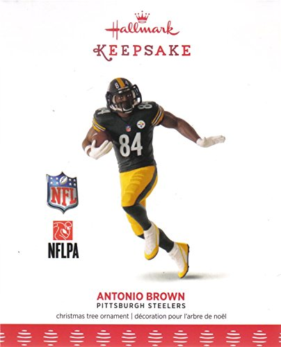 Hallmark Keepsake 2017 NFL Pittsburgh Steelers Antonio Brown Christmas Ornament