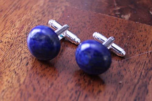 Cufflinks Lapis - Lapis Lazuli cufflinks, blue gem 16mm cufflinks