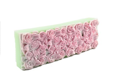 Longzang S505 Rose sea Large Size Rectangle Shape Silicone Soap Mold 3D Handmade Craft Mould