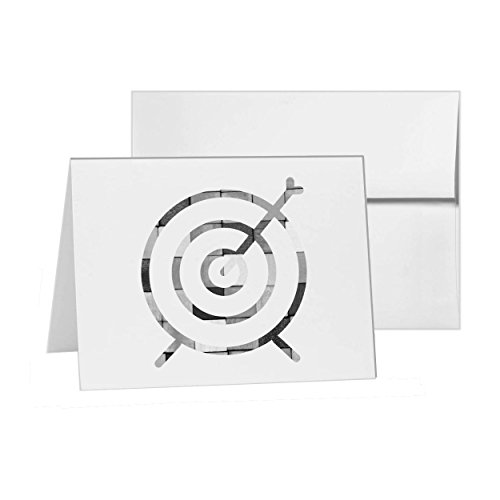 Archery Line , Blank Card Invitation Pack, 15 cards at 4x6, Blank with White Envelopes Style 6581