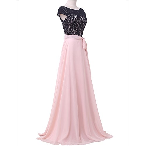 Bridal_Mall - Robe - Trapèze - Sans Manche - Femme -  Rose - 36