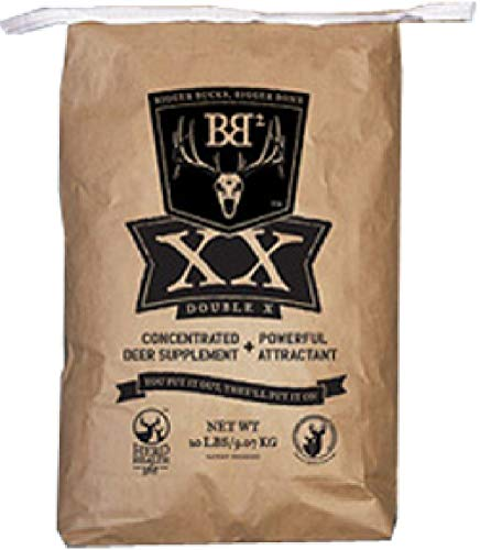 Big & J BB2 Nutritional Deer Granular Attractant and Supplement, Long Range Deer Attractant, Protein Based Formula, Strong Aroma, Whitetail Hunting, 6 Pound Bag
