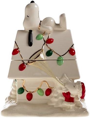 Amazon Com Lenox Snoopy S Christmas Earthenware Cookie Jar