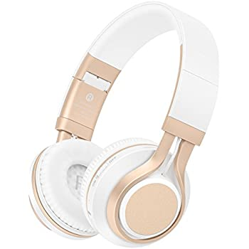 Bluetooth Headphones with Mic, HiFi Stereo Foldable Lightweight Wireless Headphones with Comfortable Protein Earpads, Noise Isolation, TF Card Mode, ...