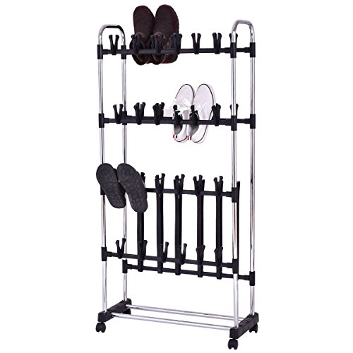 36 Pairs Clip On Shoe&Boot Rack Adjustable Storage