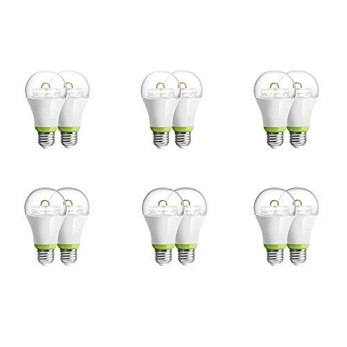 12-Pack GE Link Smart LED Light Bulb, A19 Soft White (2700K), 60-Watt Equivalent, Zigbee, Works with Alexa