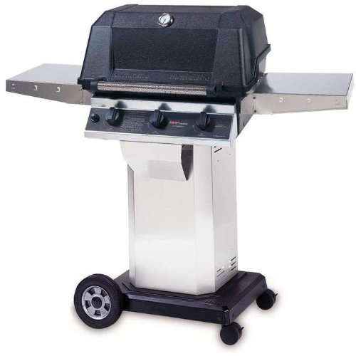 Mhp Gas Grills W3g4dd Propane Gas Grill W/ Searmagic Grids On Stainless Cart