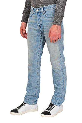 Tom Ford Pantalón hombre 38 Azul claro / Jeans Straight Corte delgado R