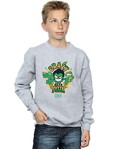 Sport Crazy Pizza Comics Go Sweat Garçon Teen shirt Gris For Dc Titans vfaw6
