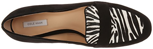 Cole Haan Womens Dakota Slip-On Loafer Black Suede/Zebra Haircalf 3jHKA