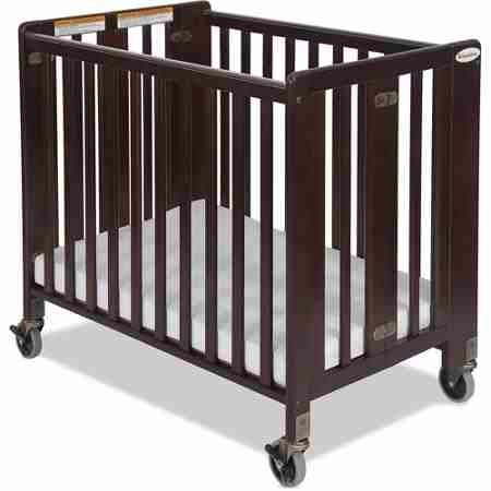 Foundations HideAway Folding Full-Size Fixed-Side Crib, Antique Cherry Finish