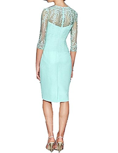 Mother Pcs Mint Dress Bride 2 Women's Of Short Dressyu The Jacket Chiffon With xqpXZwn6g