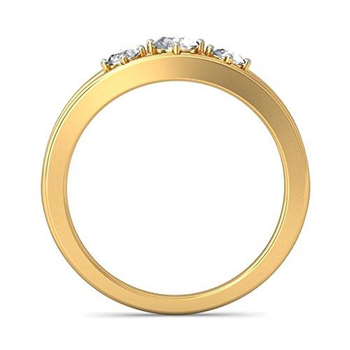 Or jaune 18K, 0,26carat Diamant Blanc (IJ | SI) en diamant