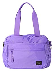 Extremeworld Travel Waterproof Single Casual Shoulder Tote Handbag(32*11*25cm, B9102 Purple)