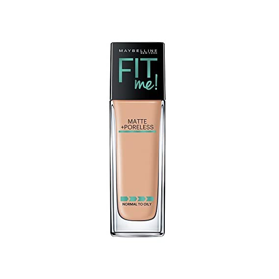 Maybelline New York Fit Me Matte+Poreless Liquid Foundation (With Pump), 220 Natural Beige, 30ml