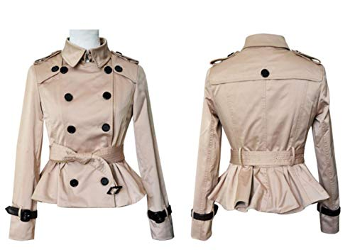 CHANGYUGE Double Breasted Short Women High Slim Short Trench Coat