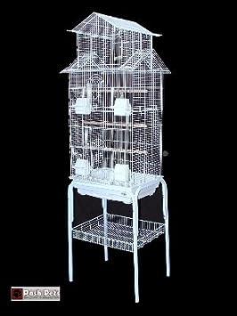 Jaula de pájaros Barcelona, con soporte y diseño pagoda, para pájaros pequeños: Amazon.es: Jardín