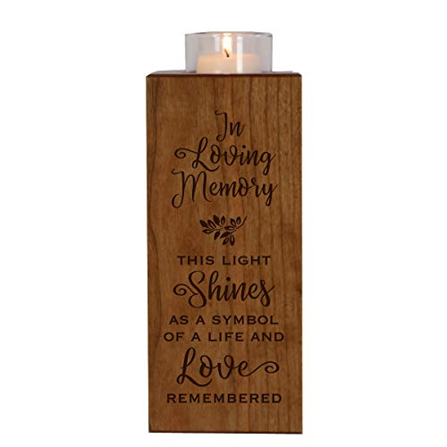 LifeSong Milestones Memorial Candle Holder in Loving Memory for Loved One Funeral Bereavement Keepsake Gift 8in (This Light Shines)