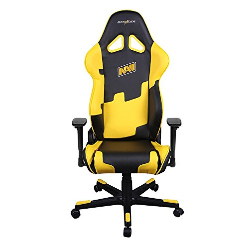 41TZMu04V9L - DXRacer Racing Series DOH/RE21/NY/NAVI Natus Vincere Racing Bucket Seat Office Chair Gaming Chair Ergonomic Computer Chair eSports Desk Chair Executive Chair Furniture With Pillows