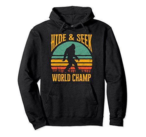 - Bigfoot Hide & Seek Champ Sasquatch Retro 70s Hoodie