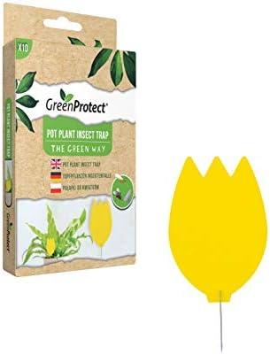 GreenProtect - Trampa para insectos para plantas y plantas ecológicas, sin insecticidas, áfidos, moscas blancas, etc.