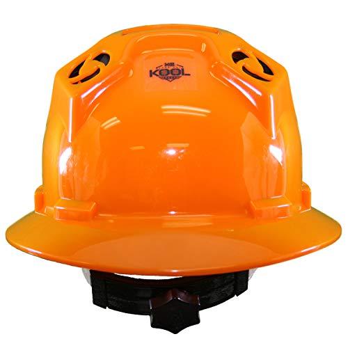 Hard Hat Head Protection Kool Breeze Solar Helmet With Rechargeable Battery and Adjustable Ratchet Suspension (Orange) by Kool Breeze Solar Hats (Image #2)