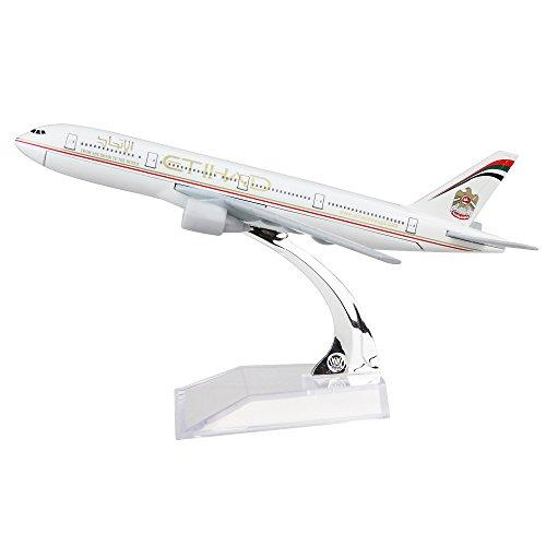 24-hours Etihad Airways Boeing 777 Alloy Metal Model Decorations Plane Model Die-cast 1:400
