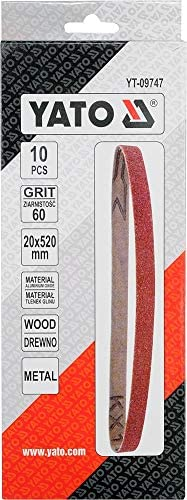 YATO YT-09747 banda de lija 20x520mm tama/ño p60