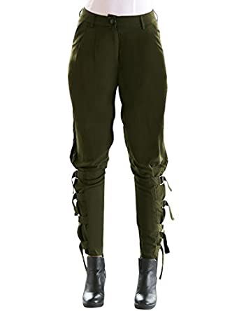 Elegant  Womens Army Green Military Camouflage Cargo Combat Pants Jeans Wide
