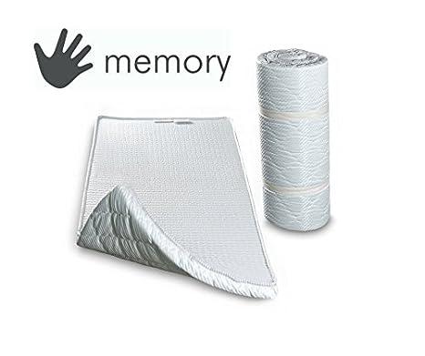 Colchón auxiliar con memoria de forma y espuma de poliuretano, cama supletoria o cama de invitados, cama enrollable, 70 x 195 cm, 80x195: Amazon.es: Hogar